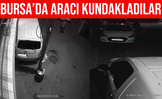 Bursa'da Otomobili Kundakladılar