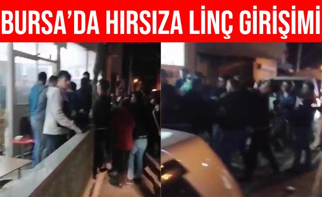 Bursa'da Vatandaşlardan Hırsıza Linç Girişimi