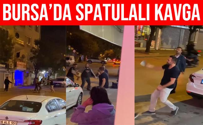 Bursa'daki Spatulalı Kavga Kameralara Yansıdı