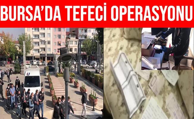 Bursa İnegöl'deki Tefeci Operasyonunda 5 Gözaltı