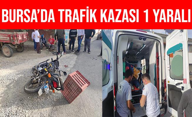 Bursa İznikte Traktör İle Motosiklet Çarpıştı: 1 Ağır Yaralı