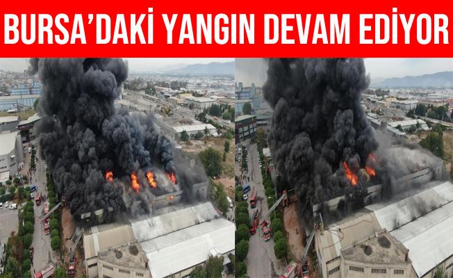 Bursa Kestel'deki Fabrika Yangını Drone İle Havadan Görüntülendi