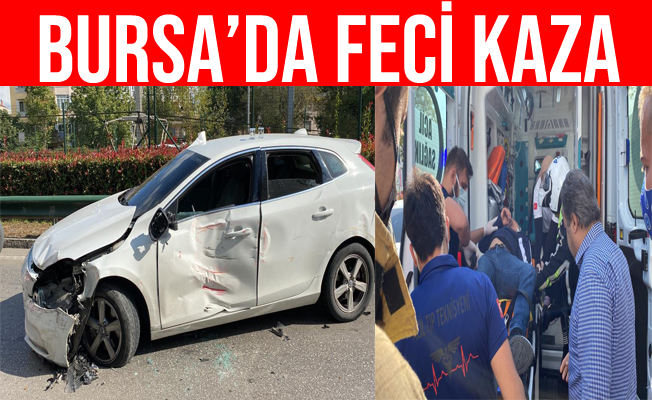 Bursa'da TIR İle Otomobilin Çarpıştığı Kazada 1 Kişi Yaralandı