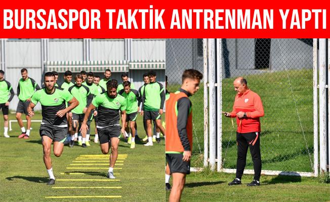 Bursaspor Balıkesirspor Maçının Taktik Antrenmanını Yaptı