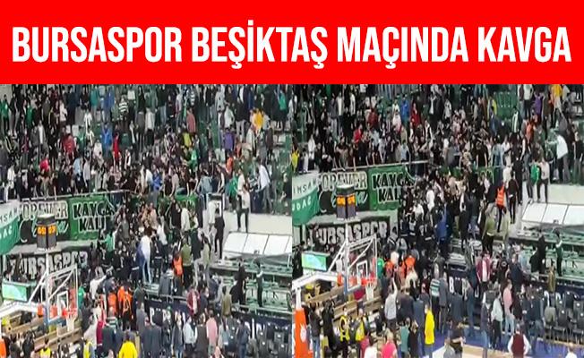 Bursaspor - Beşiktaş Maçında Taraftarlar Arasında Kavga