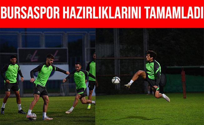 Bursaspor Boluspor Maçı Hazırlıkları Tamamladı