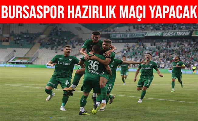 Bursaspor Fatih Karagümrük'le Hazırlık Maçı Yapacak