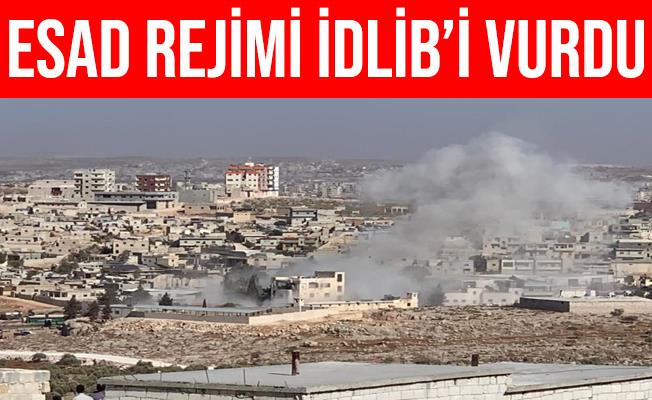 Esad Rejimi İdlib'in Sarmada Beldesini Vurdu: 3 Ölü, 10 Yaralı