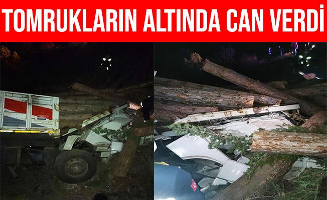 Eskişehir'de Tomrukların Altında Kalan Kamyon Şoförü Öldü