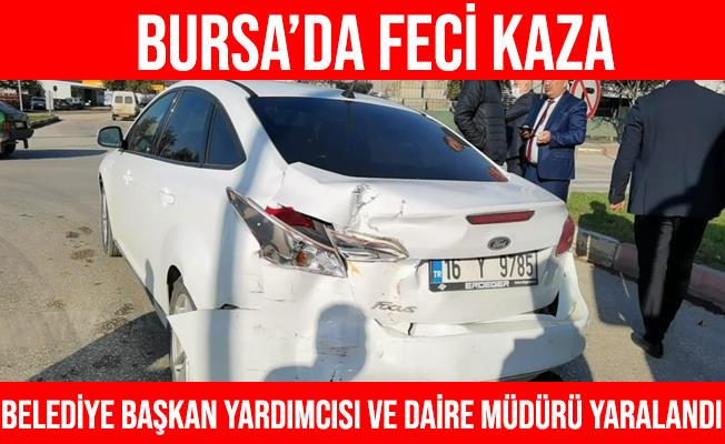 İnegöl Belediye Başkan Yardımcısı ve Daire Müdürü Kazada Yaralandı
