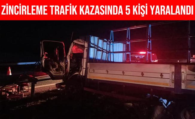 İzmir-İstanbul Karayolunda Zincirleme Trafik Kazası