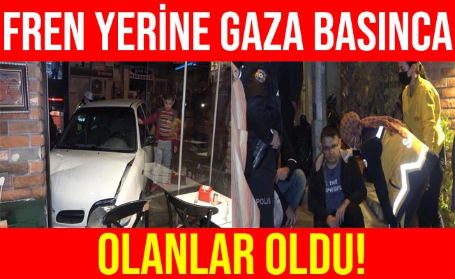 Kırıkkale'de Fren Yerine Gaza Basınca Döner Salonuna Daldı