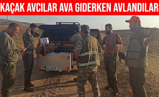 Kırıkkale'de Kaçak Ava Giderken Avlandılar