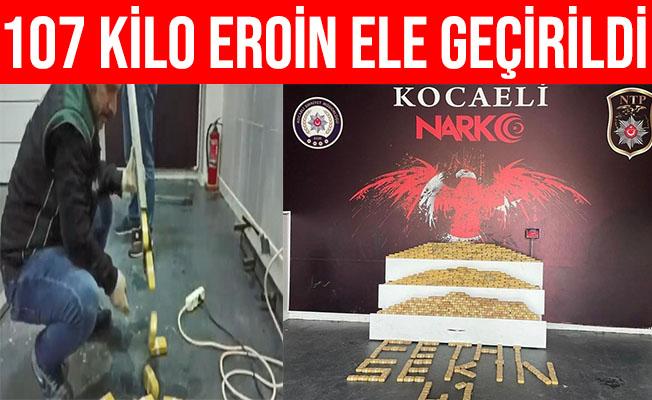 Kocaeli'de TIR Dorsesinde 107 Kilo Eroinle Yakalanan 4 Kişi Tutuklandı