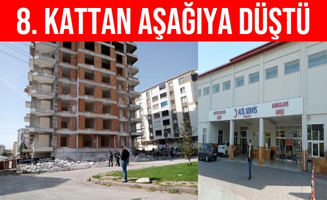 Sivas'ta 8. Kattan Düşen Duvar Ustası Ağır Yaralandı