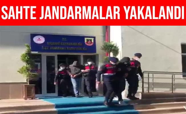 Sivas'ta Sahte Jandarmalar Gerçek Jandarmalara Yakalandı
