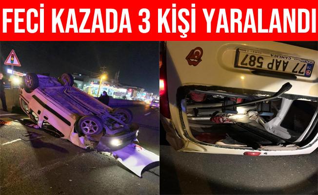 Yalova Altınova'daki Trafik Kazasında 3 Kişi Yaralandı