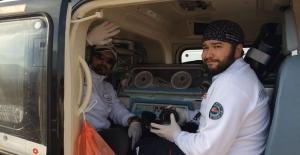 Kalp hastası 2 günlük bebek ambulans helikopterle Ankara'ya sevk edildi