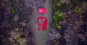 Karacabey Longozu'nda Atatürk silueti