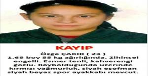 Polis Kaybolan Engelli Genç Kızı Arıyor