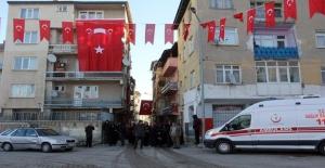 Şehidin cenazesi Erzurum'a getirildi