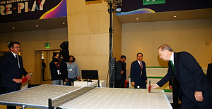 Cumhurbaşkanı Erdoğan, masa tenisi ve futbol oynadı