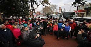 İznik'te Polise destek ziyareti