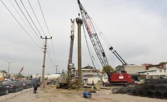 Beşyol kavşağında inşaat hızlandı