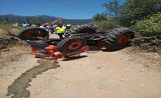 Edremit'te Devrilen traktörün altında kalan sürücü öldü