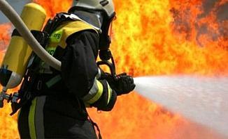 Bursa'da Kereste Fabrikasında Yangın