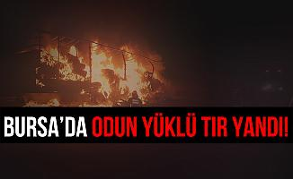 Bursa'da Odun Yüklü Tır Cayır Cayır Yandı!