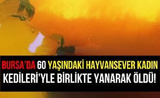 Bursa İnegöl'deki Yangında Kedileriyle Birlikte Yanarak Öldü