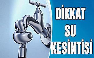 Osmangazi'de Su Kesintisi Yaşanacak