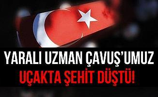 Batman'da Yaralanan Kırıkkale'li Uzman Çavuş Uçakta Şehit Düştü