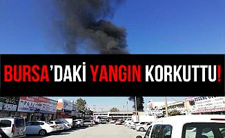 Bursa Beşevler Küçük Sanayi Sitesi'nde Yangın
