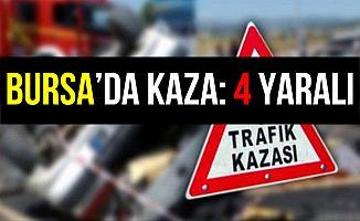 Bursa İnegöl'de Trafik Kazası: 4 Yaralı
