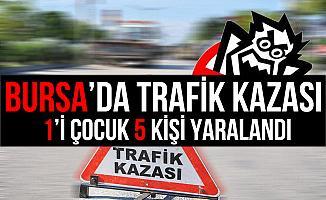 Bursa İnegöl'deki Kazada Can Pazarı Yaşandı: 5 Yaralı