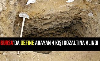 Bursa Yenişehir'de Define Arayan 4 Kişi Gözaltına Alındı