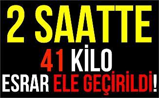 Diyarbakır'da 41 Kilo 655 Gram Esrar Ele Geçirildi!