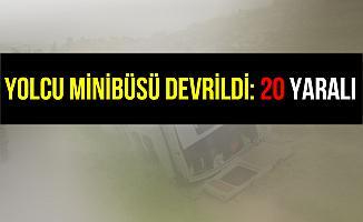 Kocaeli Gölcük'te Yolcu Minibüsü Devrildi: 20 Yaralı