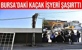 Bursa'da Elektrik Direkli Kaçak İşyeri Herkesi Şaşırttı