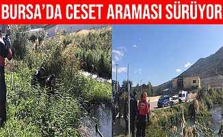 Bursa'da Gemlik Karsak Deresinde Ceset Araması Devam Ediyor