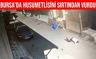Bursa'da Husumetlisini Silahla Sırtından Vurdu