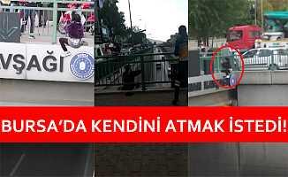 Bursa'da Köprüden Atlamak İsteyen Genç Kızı Polisler İkna Etti