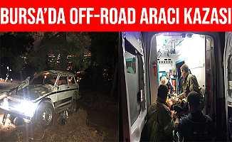 Bursa'da Off-Road Aracı Takla Atarak Ormanlık Araziye Uçtu