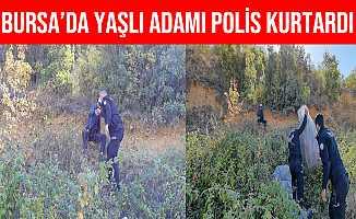 Bursa'da Yamaçta Mahsur Kalan Adamı polis Ekipleri Kurtardı