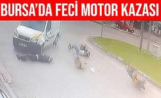 Bursa'daki Motosiklet Kazasında Sürücü Ağır Yaralandı