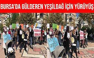 Bursa Gemlik'te Gülderen Yeşildağ İçin Yürüyüş Düzenlendi