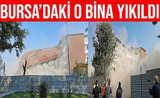 Bursa İnegöl'de 35 Yıllık Hükümet Konağı Yıkıldı