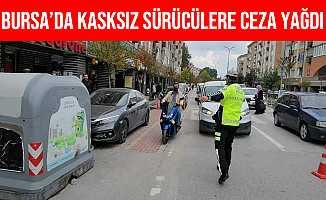 Bursa İnegöl'de Kasksız Sürücülere Ceza Yağdı